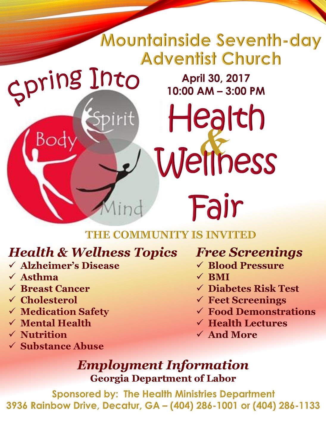 Flyer sample | Health Fair Ideas | Sample flyers, Free ... |Wellness Day Event Flyers